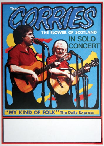 Limited edition Corries concert poster (number 2)