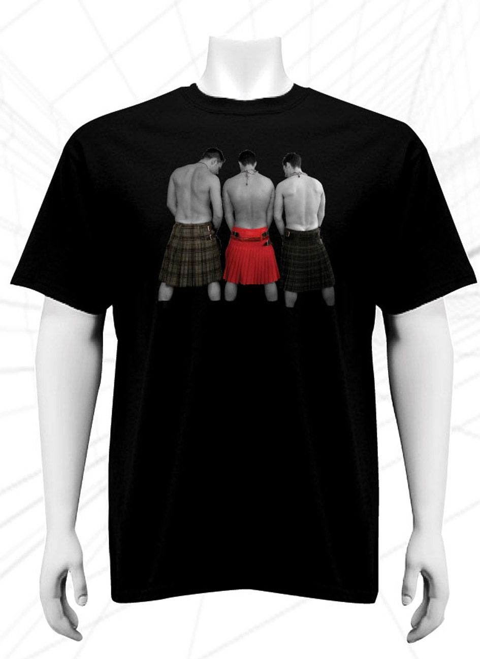 Three kilted men T-shirt