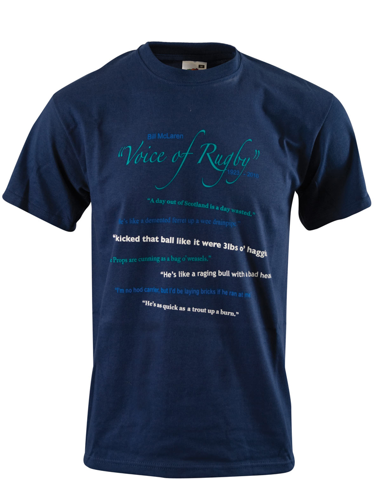 Bill McLaren Voice of Rugby T-shirt