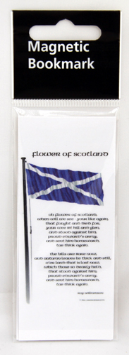 Flower of Scotland magnetic bookmark