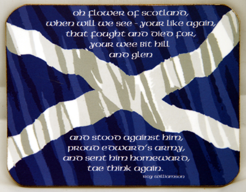 Flower of Scotland coaster