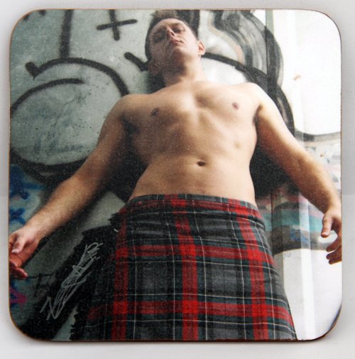 Kilt and Grafitti coaster