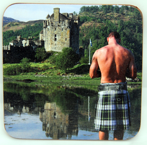 Kilt and Castle coaster