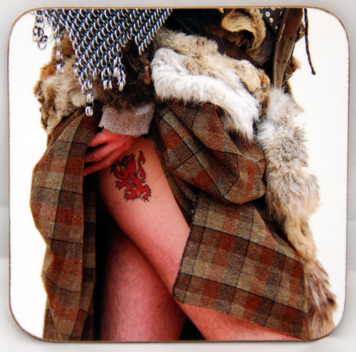 Highland Tattoo coaster