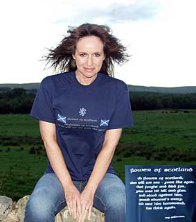 Flower of Scotland T-shirt style 3
