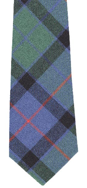 Flower of Scotland tartan wool neck tie