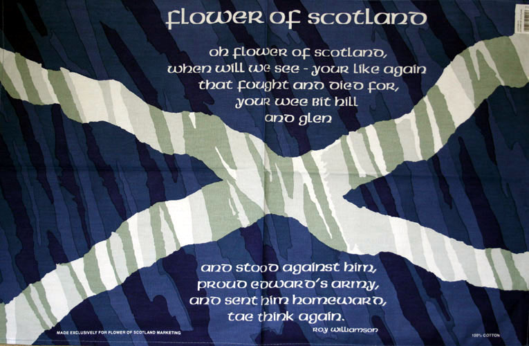 Flower of Scotland Tea Towel