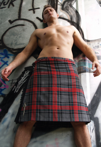 Kilt and Graffiti postcard