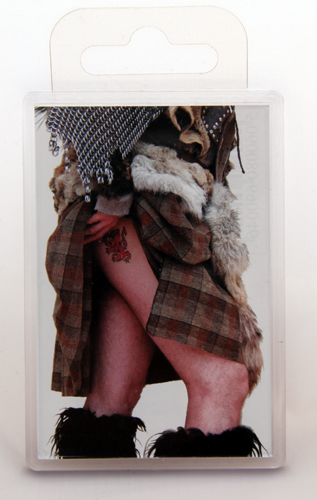 Giant Highland tattoo fridge magnet