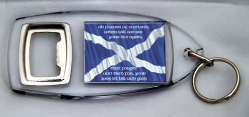 Flower of Scotland keyring / bottleopener