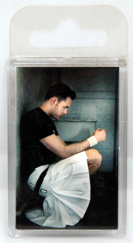 Giant white kilt fridge magnet