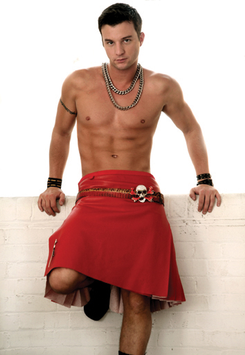 Red kilt postcard
