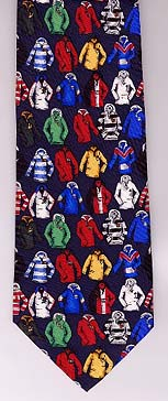 Rugby shirts silk neck tie