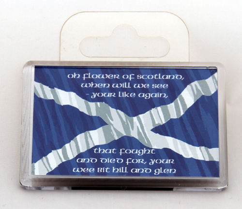 Standard Flower of Scotland words fridge magnet