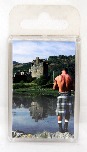Standard kilt and castle fridge magnet