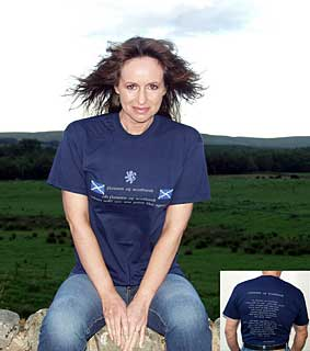 Flower of Scotland T-shirt style 1