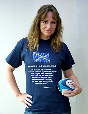 Flower of Scotland T-shirt style 2