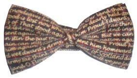 Flower of Scotland silk bow tie