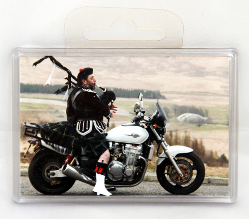 Giant piper on bike fridge magnet