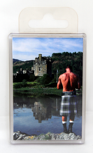 Giant kilt and castle fridge magnet