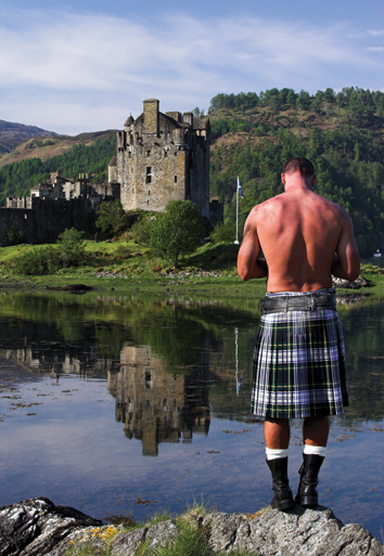 Kilt and Castle postcard