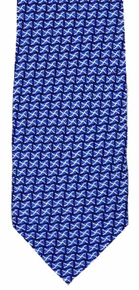 Mini Saltire silk neck tie