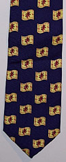 Rampant Lion silk neck tie