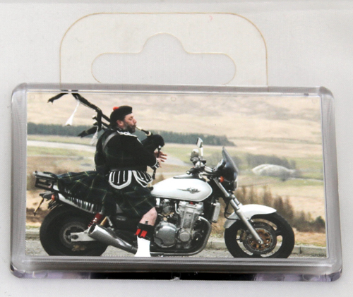 Standard piper on bike fridge magnet
