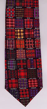 Tartans Silk neck tie